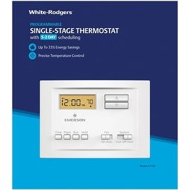 White-Rodgers P150 5-2 Digital Programmable Thermostat, White