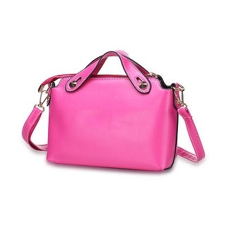 Faux Pink Leather Sleek Satchel