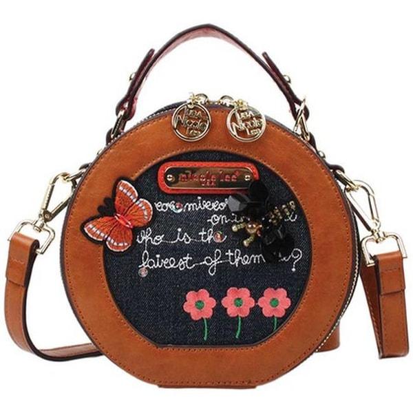81ff924854ff Nicole Lee Women  x27 s Riley Denim Embroidery Mini Bag Denim Embroidery -  US