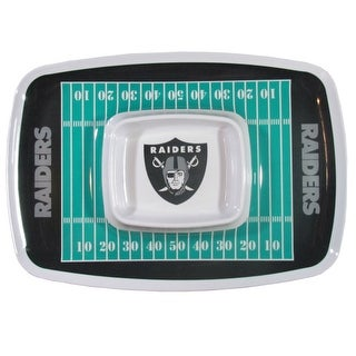 Siskiyou Sports Oakland Raiders Chip And Dip Tray Chip and Dip Tray