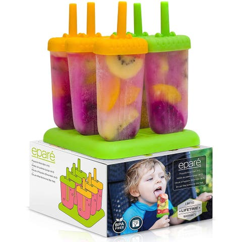 Epare Popsicle Molds - Silicone Homemade Ice Pop Maker