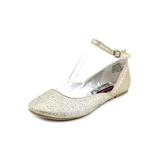Material Girl Krown Round Toe Canvas Flats