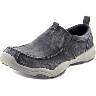 Skechers Larson-Bolten Men W Apron Toe Canvas Black Loafer
