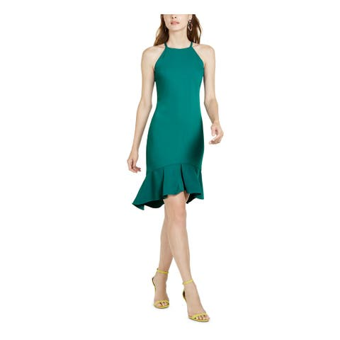 TRINA TURK Teal Sleeveless Above The Knee Dress 16