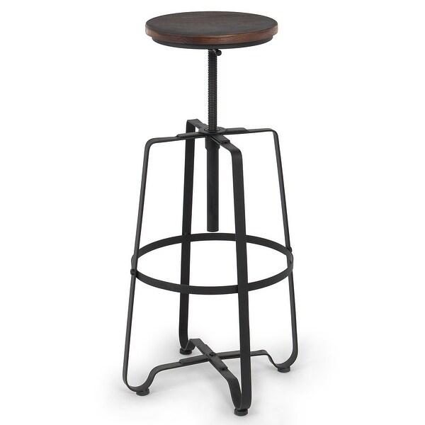 Vintage Bar Stool Adjustable Seat Height Counter Top Chair: Shop Belleze Vintage Rustic Bar Stool Adjustable Seat
