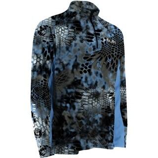 Huk Kryptek Icon 1/4 Zip Kryptek Neptune 3XL Long Sleeve Fishing Shirt