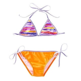 Azul Little Girls Orange Purple Lilac And Stitch Reversible 2 Pc Bikini (3 options available)
