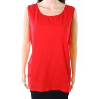 924a9a5af634f Buy Size 1X Red Sleeveless Shirts Online at Overstock
