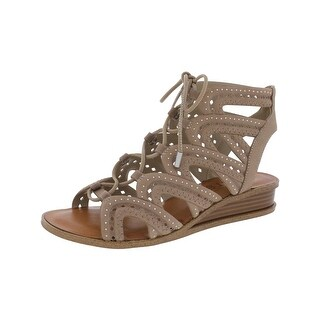 1.State Womens Maygan Wedge Sandals Strappy Embellished