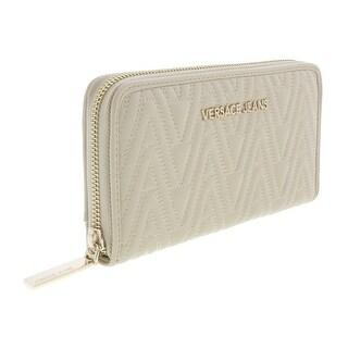 Versace EE3VRBPY2 Beige Continental Wallet - 8-4-1