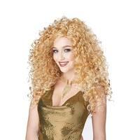 Disco Diva Do Blonde Costume Wig - Yellow