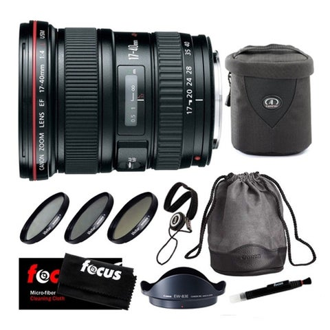 Canon EF 17-40mm f/4.0 L USM Ultra Wide Angle Zoom Lens with Bundle