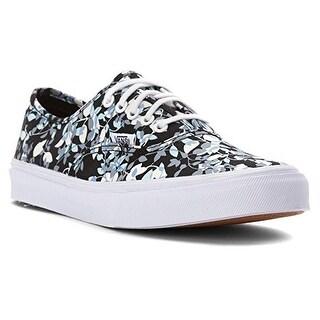 Vans Authentic Slim (Reverse Floral) Black/White Women's Size 6.5