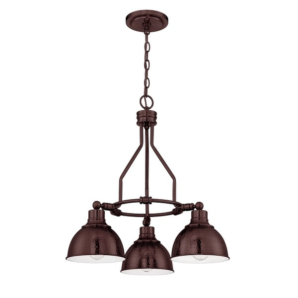 "Jeremiah Lighting 35923 Timarron Single Tier 3-Light Chandelier - 22"" Wide"