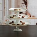 Palais Glassware Elegent 3 in 1 Cupcake or Cake Stand - Mix and Match Use As a One Tier, Two Tier or Three Tier or As 3 Separate - Thumbnail 0