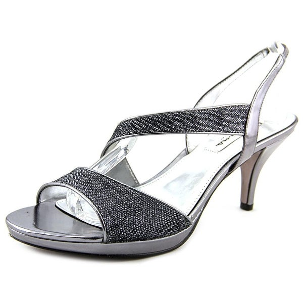 Nina Newark Women  Open Toe Synthetic Silver Sandals