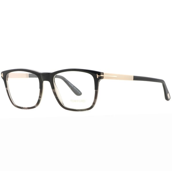58a54a05909 Tom Ford TF 5351 005 54mm Black Horn Rose Gold Unisex Square Eyeglasses -  black
