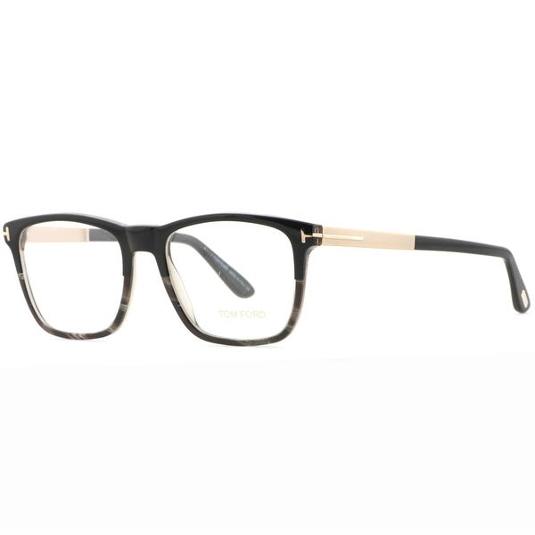 Tom Ford TF 5351 005 54mm Black Horn Rose Gold Unisex Square Eyeglasses - black/black horn/rose gold - 54mm-18mm-145mm