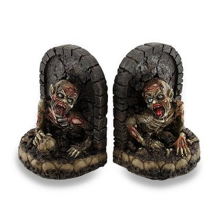 Zombie Breaking Out of Grave Bookend Set of 2