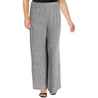 MSK Womens Straight Leg Pants Metallic Pull On