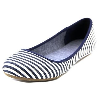 Dr. Scholl's Friendly Women Round Toe Canvas Blue Flats