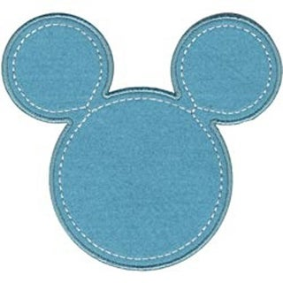 Mickey Blue Silhouette - Disney Mickey Mouse Iron-On Applique