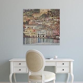 Easy Art Prints Gustav Klimt's 'Malcesine on Lake Garda' Premium Canvas Art