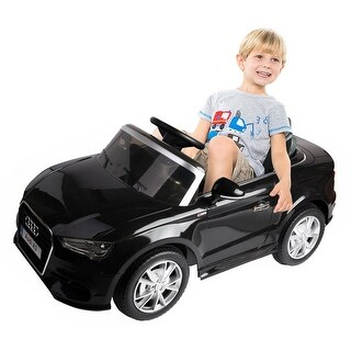 Costway 12V Audi A3 Licensed RC Kids Ride On Car Electric Remote Control LED Light Music