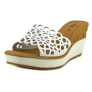 Azura Polidor Open Toe Canvas Wedge Sandal