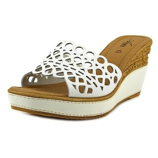 Azura Polidor Open Toe Canvas Wedge Sandal