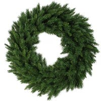 "48"" Lush Mixed Pine Artificial Christmas Wreath - Unlit - green"