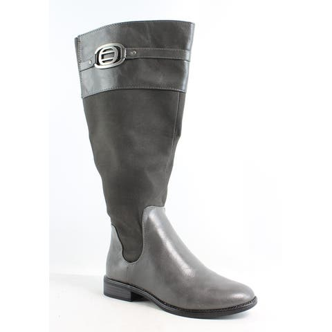 LifeStride Womens Ravish Dark Grey Riding Boots Size 5.5