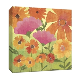 """PTM Images 9-152394  PTM Canvas Collection 12"""" x 12"""" - """"Spring Fling I"""" Giclee Flowers Art Print on Canvas"""