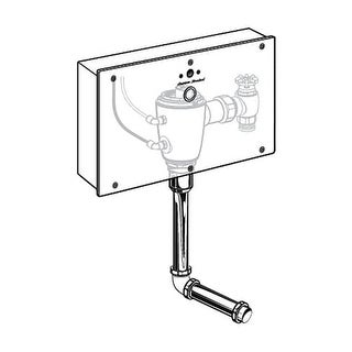American Standard 606B.501 Selectronic? Concealed Flush Valve with Wall Box for Back Spud Urinal