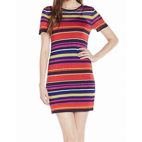 Trina Turk Red Women's Size Small S Striped Knit Sweater Dress