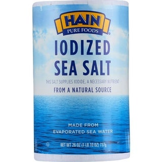 Hain Pure Foods - Iodized Sea Salt ( 3 - 26 OZ)