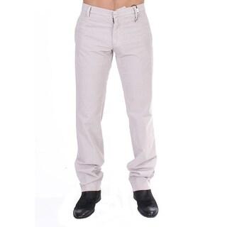 GF Ferre Beige Corduroy Slim Fit Stretch Pants - it48-m