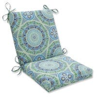 """36.5"""" Delancey Lagoon Outdoor Patio Chair Cushion with Ties - Green"""