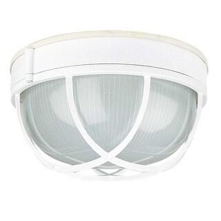 """Sunset Lighting F7987 1 Light Outdoor Cast Aluminum 10"""" Wide Flush Mount Ceiling Fixture"""