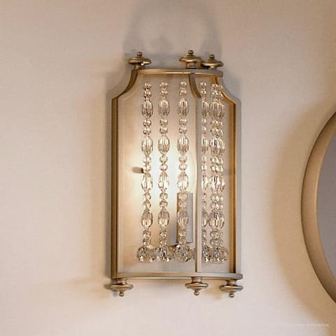 "Luxury Moroccan Wall Sconce, 13.625""H x 8.25""W, with Shabby Chic Style, Antique Silver Finish by Urban Ambiance"