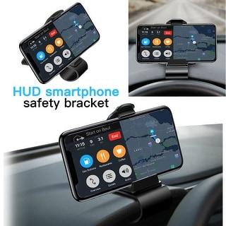 AGPTEK Car Dashboard Head Up Display Cell Phone Clip Holder Mount Stand Adjustable Display Angle GPS Universal