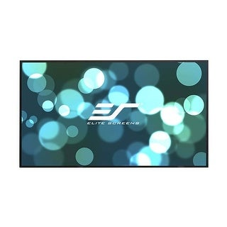 """Elite Screens Aeon Series 120"""" Edge-Free Projector Screen with CineGrey 3D Material (Black)"""
