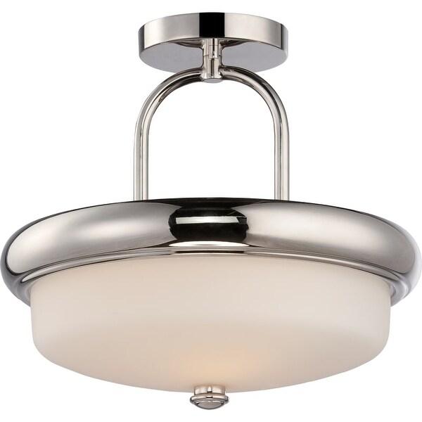 "Nuvo Lighting 62/404 Dylan 2 Light 13"" Wide LED Semi-Flush Bowl Ceiling Fixture"