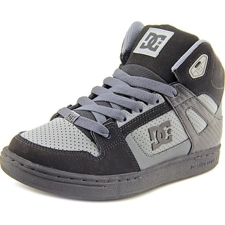 DC Shoes Rebound Youth  Round Toe Leather Gray Skate Shoe