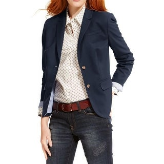 Tommy Hilfiger Womens Two-Button Suit Jacket Classic Fit Notch Collar