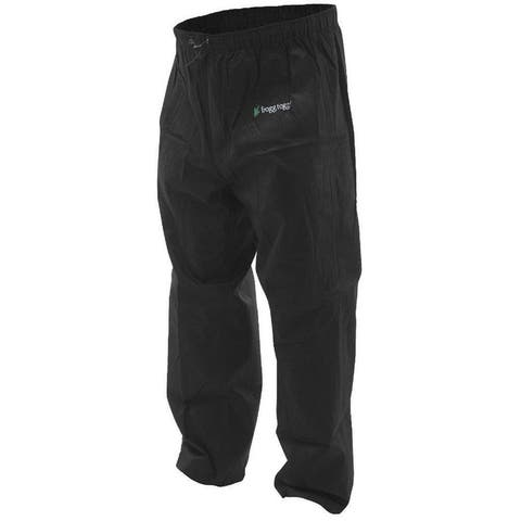 Frogg Toggs Pro Action Rain Pants Black - All Sizes
