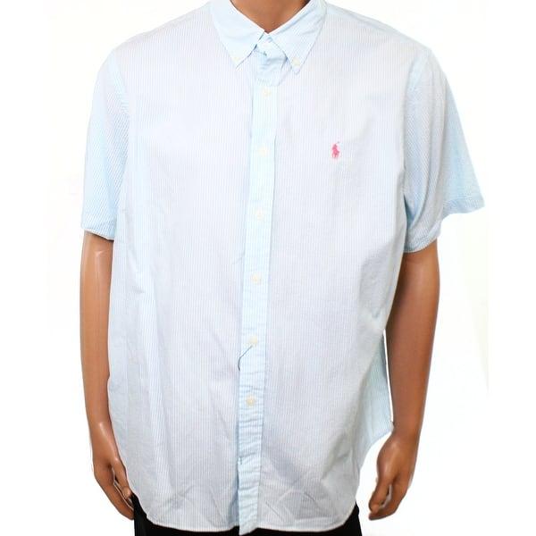 Shop Polo Ralph Lauren New Blue Men Size Small S Button Down
