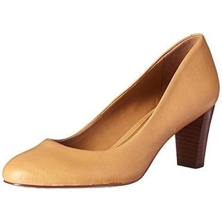 Lauren Ralph Lauren Womens Hala Dress Heels Leather Stacked Heel - 9 medium (b,m)