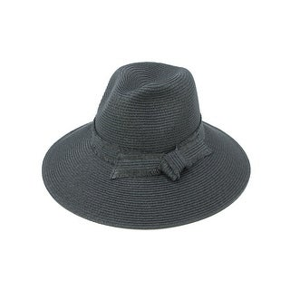 ChicHeadwear Womens Panama Hat w/ Frayed Band - One size