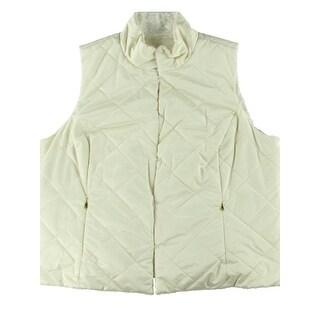 Lauren Ralph Lauren Womens Outerwear Vest Reversible Faux Fur